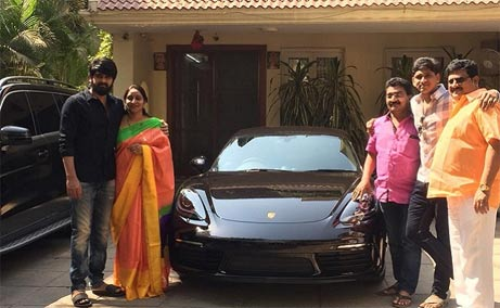 Naga Shaurya gets Porsche Car as gift on scoring hit