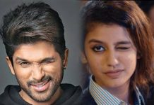 Stylish Star Allu Arjun in awe of Priya Prakash Varrier