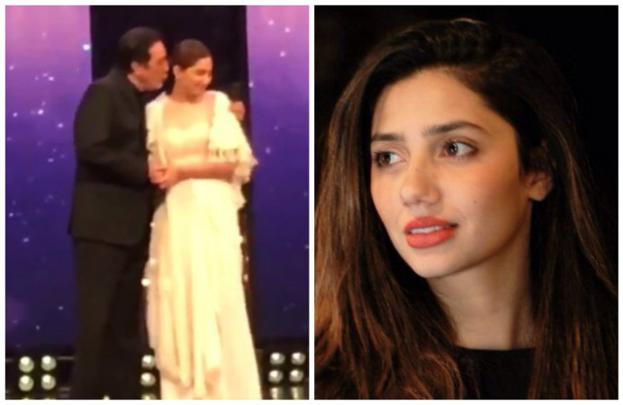 Viral video! Mahira Khan was forcibly kissed by Pakistani actor Javed Sheikh in award show