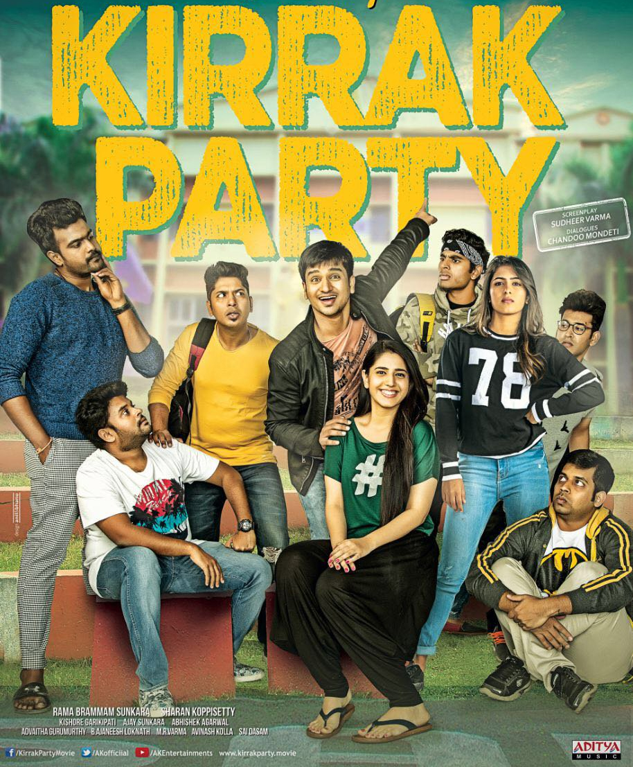 Nikhil's Kirrak Party Day 1 Box Office Collections