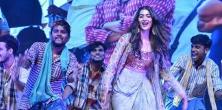 What is the secret behind Pooja Hegde's stage performance in Rangasthalam Pre-Release Event?