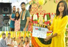 Srinu-Vaitla's-daughters-took-clap-and-Camera-for-Ravi-Teja