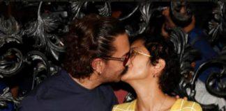 Aamir Khan and Kiran Rao share a passionate Kiss at Mumbai Airport