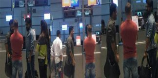 Jr.NTR and Ram Charan on the way to America