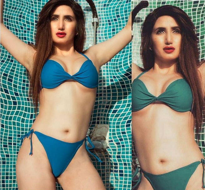 The excellent miss pooja in bikini excellent message