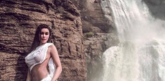 Ex-Bigg Boss contestant flaunts her n**ple: She recreates Mandakini look in white wet saree