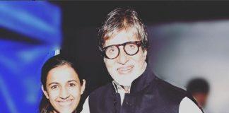 Mega Princess Niharika Konidela with Shahenshah of Bollywood