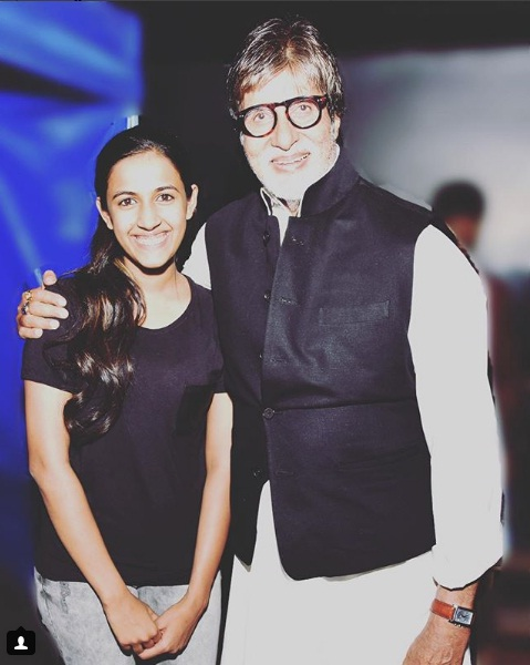 Mega Princess Niharika Konidela with Shahenshah of Bollywood