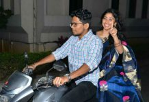 Sai Pallavi arrives on Bike for Kanam pre-release event due to traffic