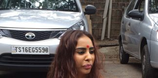 Actress Sri Reddy goes for half n**e and protests on road