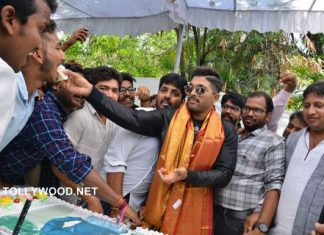 Allu Arjun Birthday Celebrations at Geetha Arts Office