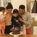 Allu Arjun and Sneha Reddy celebrates Allu Ayaan's Birthday