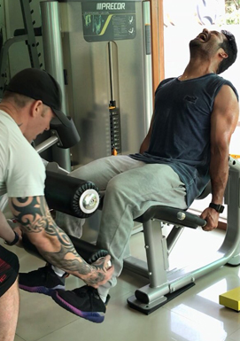 Jr. NTR with his trainer: Intense workout for perfect body