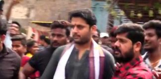 Nithiin visits Simhachalam Appanna Swamy Temple