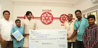 Pawan Kalyan donates Rs 5 Lakhs to T-20 Cricket Tournament for Differently-abled