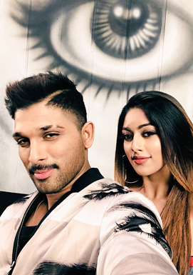 Stylish Star Allu Arjun's personal picture with Anu Emmanuel