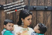 Lavanya Tripathi with two little big stars