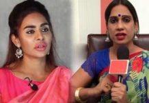 Sri Reddy fires on Transgender Tamanna Simhadri
