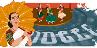 Mrinalini Sarabhai 100th birth day honored by Google Doodle