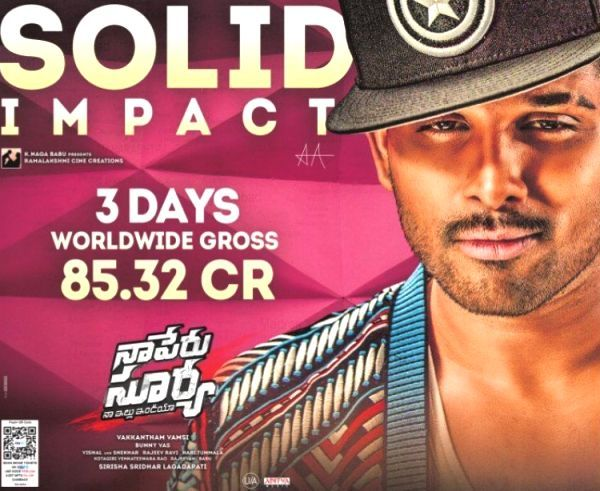 Naa Peru Surya box office collection Day 3: Allu Arjun's film crosses 85 Cr worldwide