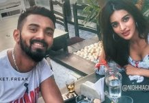 Nidhhi Agerwal caught with cricketer KL Rahul