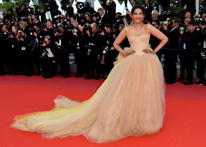 Sonam Kapoor stuns in yellow Vera Wang bridal gown at Cannes Red Carpet 2018