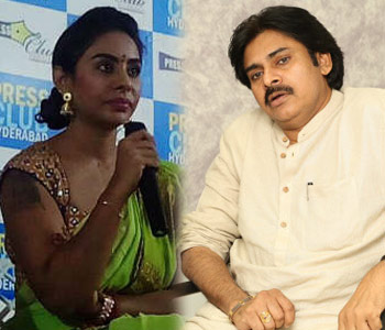 Sri Reddy's sensational comments on Pawan Kalyan: Will show him how to use Law