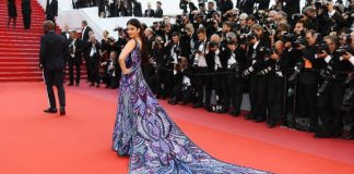 Aishwarya Rai Bachchan shines in ultra violet butterfly gown Cannes 2018