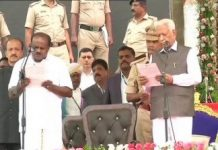 Kumaraswamy sworn-in as Chief Minister of Karnataka