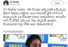 #srireddyleaks: Sri Reddy targets Natural Star Nani again