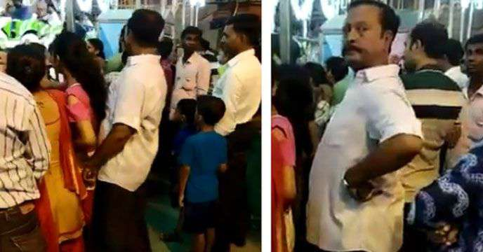 Pervert Man touches minor inappropriately in fair! Video Viral