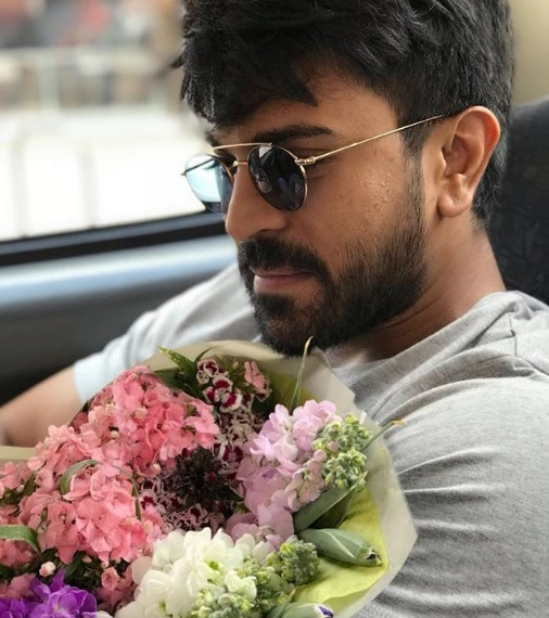 Ram Charan flower shopping for Upasana