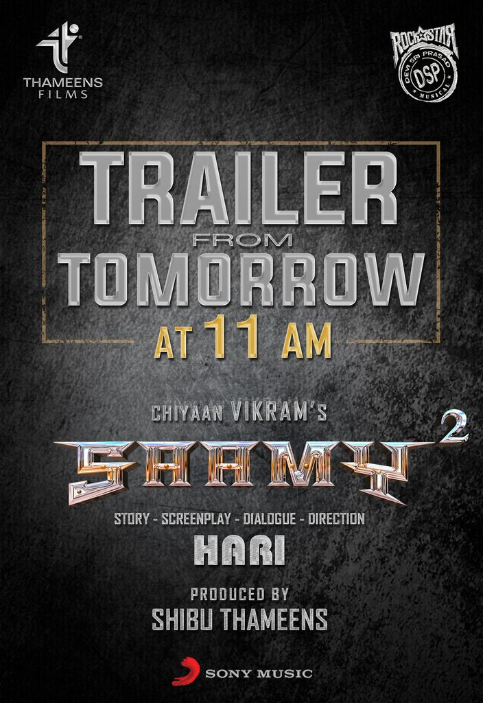 Saamy Square trailer to be released tomorrow