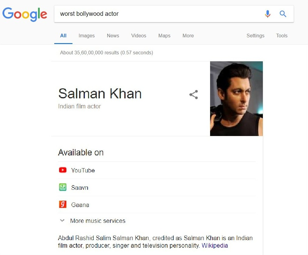 Salman Khan Worst Bollywood actor! Proof is here