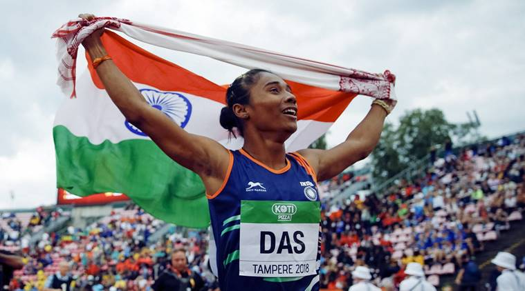 Hima Das the first Indian Gold Medalist on Track