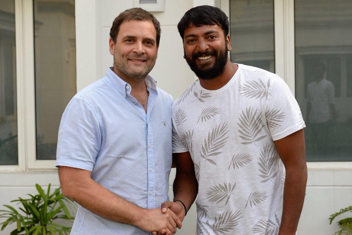 Rahul Gandhi meets Pa Ranjith and Kalaiyarasan (2)