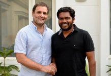 Rahul Gandhi meets Pa Ranjith and Kalaiyarasan