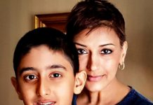 Sonali Bendre taking about cancer with her son