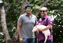 Suresh Babu sweet gesture: Feeding Banana to Piglet