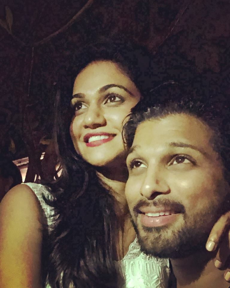 Allu Arjun Is King, Sneha REddy Is Queen Of Social Media