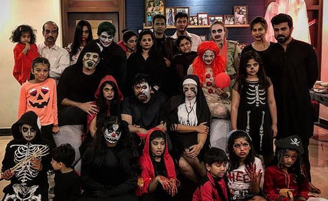 Mega Family celebrates Halloween Party
