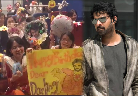 Overwhelming love for Prabhas in Japan