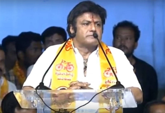 Balakrishna political speeches in his father voice