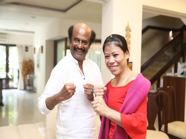 Rajinikanth and Mary Kom in one frame