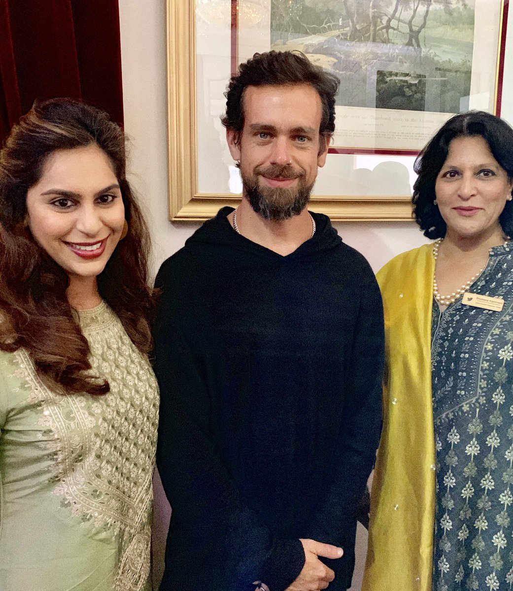 Upasana dinner with Twitter Boss Jack Dorsey! & Ram Charan has no Twitter account