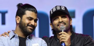 Allu Arjun teaches lesson of 'Garu' at Sharwanand event