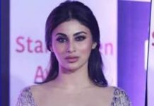 Mouni Roy flaunts major Cleavage @ Star Screen Awards 2018