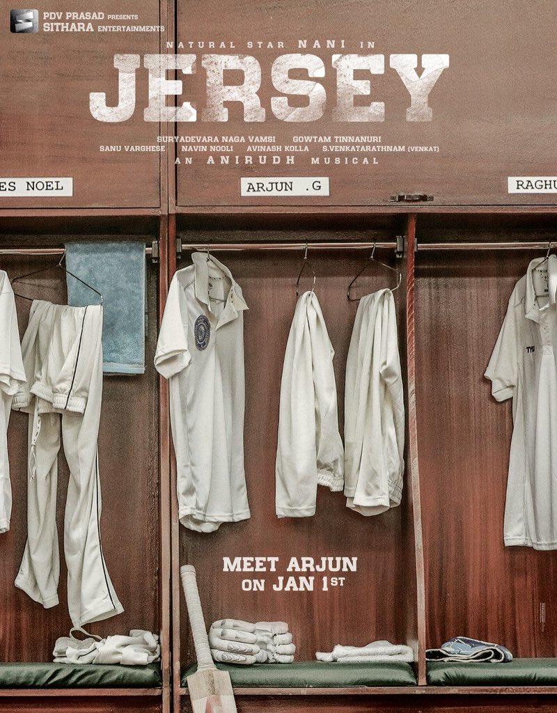 Nani Jersey first look on 1st January