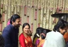 Prabhas not leaving Anushka at Rajamouli son wedding