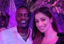 Raai Laxmi with American singer Akon: What a Night!